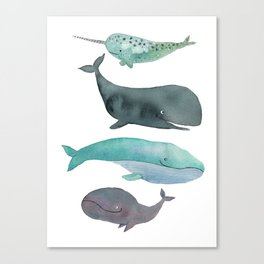 I love whales Canvas Print