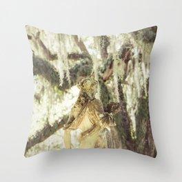 Louisiana Spanish Moss Throw Pillow