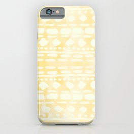 Boho Sunrise Soft Yellow _ hand painted watercolor iPhone Case