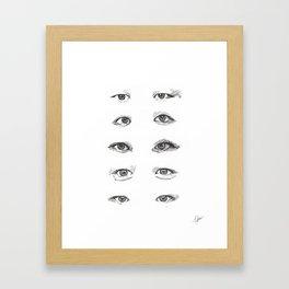 eye study Framed Art Print