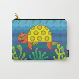 Stylize fantasy turtle under water Carry-All Pouch