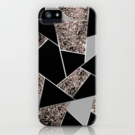 Rose Gold Geometric Glitter Glam #1 #geo #decor #art #society6 iPhone Case