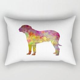 Bullmastiff in watercolor Rectangular Pillow