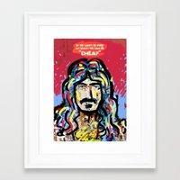zappa Framed Art Prints featuring Zappa by Tolga Hirsova