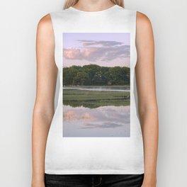 Annisquam river reflections Biker Tank