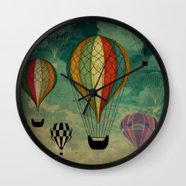1er vuelo Aerostático en España Wall Clock