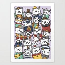 CATS'N'BATS Art Print