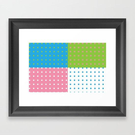 Ditzy Framed Art Print