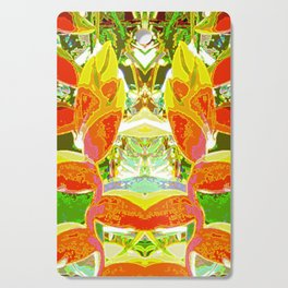 Heliconia Red Claws Pattern Cutting Board