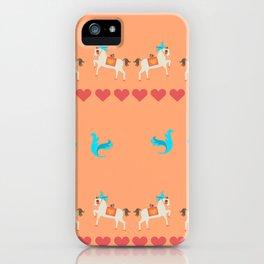 GENTLE  HORSE AND FELLOW BIRD iPhone Case