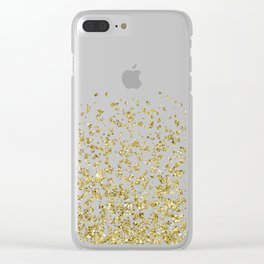 Gilded confetti Clear iPhone Case