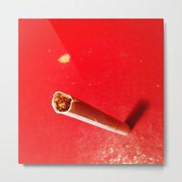 Ceci n'est pas une cigarette. Metal Print
