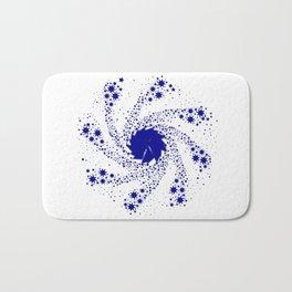 Blue Pin Wheel Bath Mat