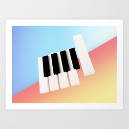 Piano Roll Art Print