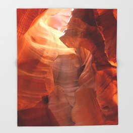 Magical Antelope Canyon Throw Blanket