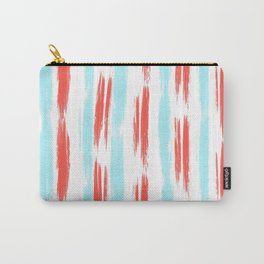 Red and Blue Oil Stripes Pattern Carry-All Pouch