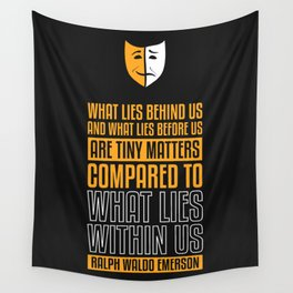 Lab No. 4 What Lies Behind Us Ralph Waldo Emerson Life Inspirational Quote Wall Tapestry