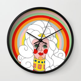 Theodora in Technicolor Wall Clock