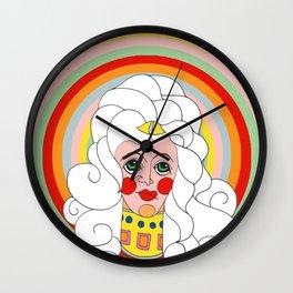 Theodora in Technicolor Wall Clock