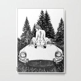 asc 326 - La halte dans la tourbière (The break in the bog) Metal Print