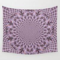 pantone Wall Tapestries featuring Pantone Flowery Kaleidoscope by Bella Mahri-PhotoArt By Tina