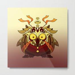Owl Fierce Metal Print