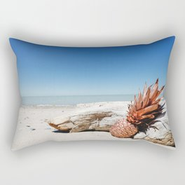 Rose Gold Pineapple Awesome Rectangular Pillow