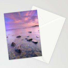 """Pink Sunset. Mediterranean sea."" Stationery Cards"
