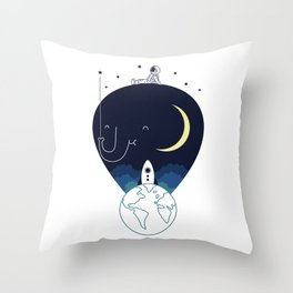 Imagine and Explore Throw Pillow
