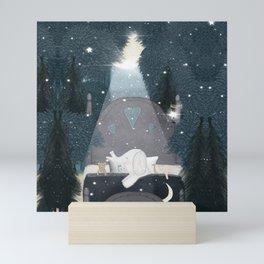 dreaming of stars Mini Art Print