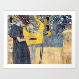 "Gustav Klimt ""Music (Die Musik)"" Art Print"