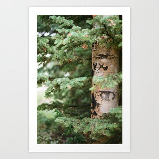 WRITTEN IN THE TREES Art Print