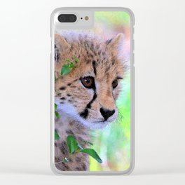 Aqua_Cheetah_20180102_by_JAMColorsSpecial Clear iPhone Case