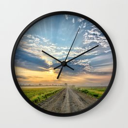 Level B Morning 2 Wall Clock