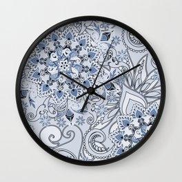 Mandalas and flowers Wall Clock
