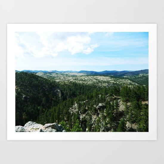 The Landscape Has Hills Art Print