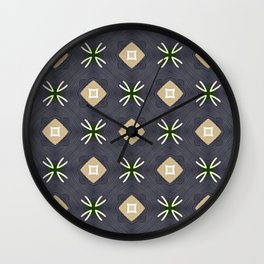 Koko beige and black with white marks pattern Wall Clock