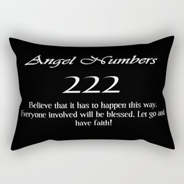 ANGEL Numbers 222 Rectangular Pillow