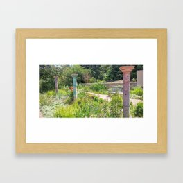 Columns in the Garden Framed Art Print