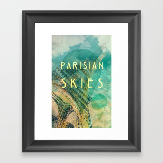 Songs and Cities: Parisian Skies Framed Art Print