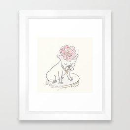 French Bulldog Flower Power : Fashion and Fluffballs Framed Art Print