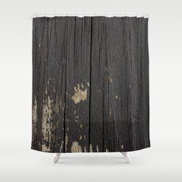 Black Wood Shower Curtain
