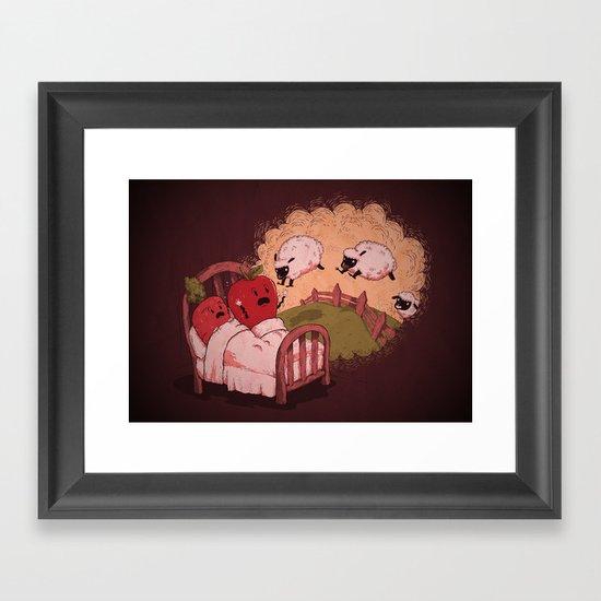 sleepsheep (counting them doesn't always help) Framed Art Print