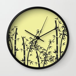 Bamboo black - yellow Wall Clock