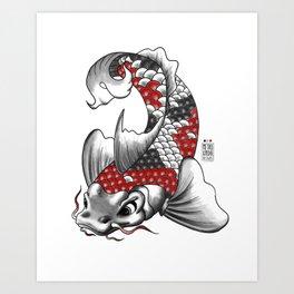M&m Designs - Koi Fish Art Print