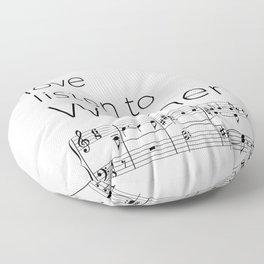 Live, love, listen to Wagner Floor Pillow