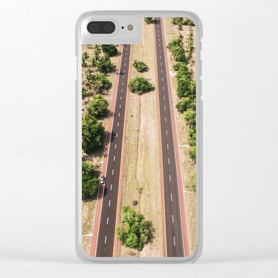 Desert Road Clear iPhone Case