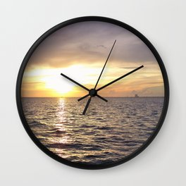 Sunrise over the Indian River Wall Clock