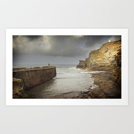 Portreath harbour Art Print