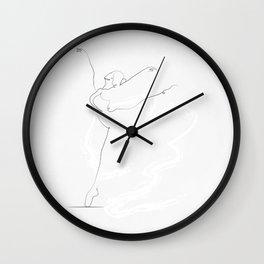 'ESSENCE', Dancer Line Drawing Wall Clock